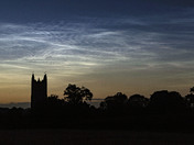 Night shining clouds over Harleston